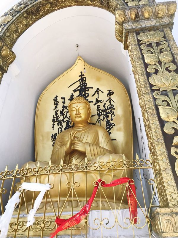 Religion Statue Spirituality Sculpture Male Likeness Human Representation Place Of Worship Gold Colored Indoors  Idol No People Architecture Day