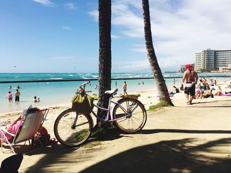Me and my Bike in Waikiki at the. Hawaii Waikiki Beach Travel Destinations Tourist Destination Oahu Beaches Beach Day Surfs Up Walking On The Beach Oceanview Hawaii Life Travelling Beach Ocean View Beaches Paradise Enjoying Life Oahu Oahu Hawaii