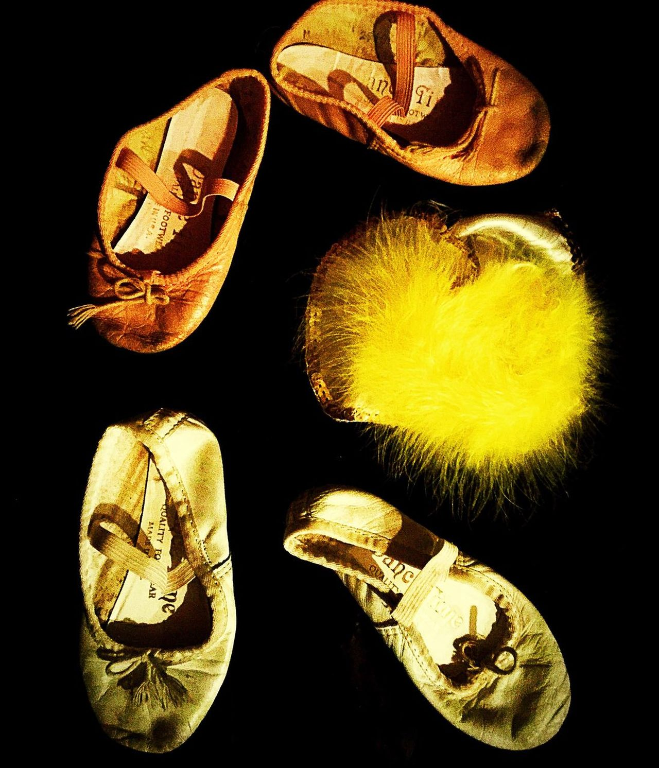 Ballet Shoes Black Background Dance Studio Shot Close-up No People