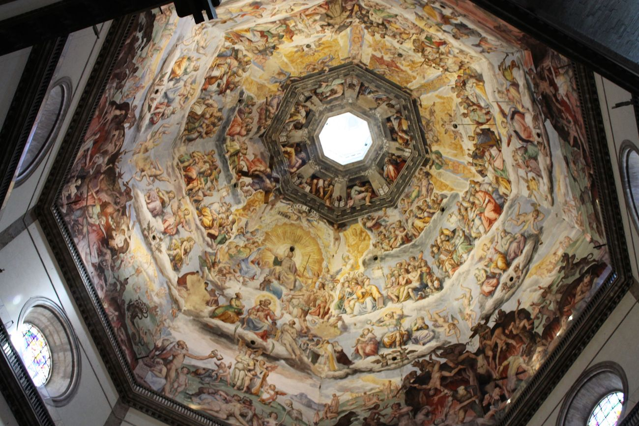 Architecture Cultures Cupola Day Florence Italy Frainf Fresco History Indoors  Low Angle View No People Place Of Worship Travel Destinations