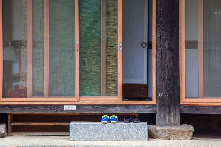 autumn scene of Seonunsa, a Buddhism Temple in Gochang, Jeonbuk, South Korea Architecture Autumn Buddhism Day Door No People Outdoors Religion Seonunsa Sprituality Temple Window Wood - Material