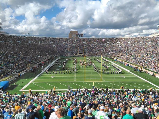 Just a great day with 82000 of my closest friends... Large Group Of People Leisure Activity Stadium Performance Teamwork Cloud - Sky Saw On My Walk College Campus Collegefootball