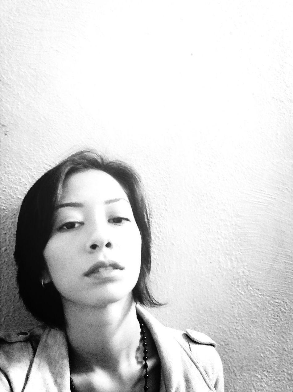 Super Bored Selfie Black And White