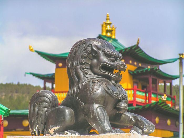 Buryatia Ulan-Ude Buryatia, Russia, Ulan-Ude Streetphotography Outdoors Sculpture No People Architecture Religion Cultures Budhist Temple Buddism Buddist Temple Datsan