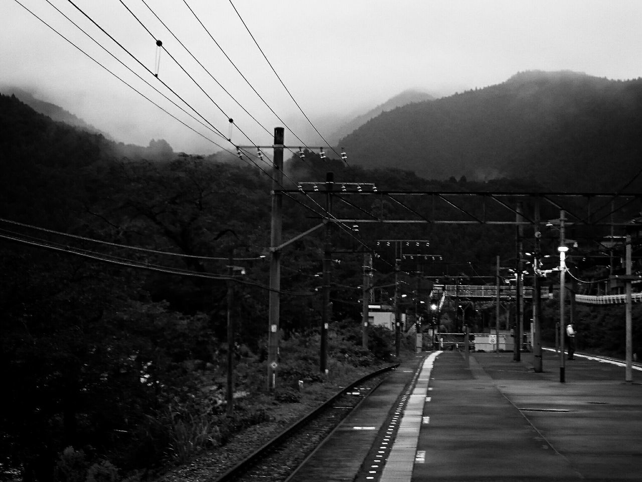 Local Line Train Station Mountains Taking Photos EyeEm Best Shots - Black + White Monochrome