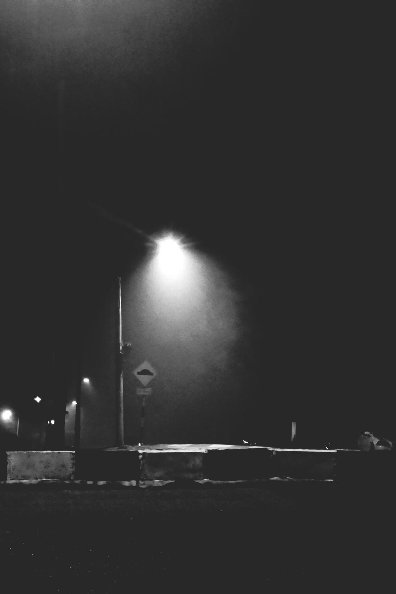 Night Outdoors No People Sky Signboard Streetphotography Photography Blackandwhite Haze Weather