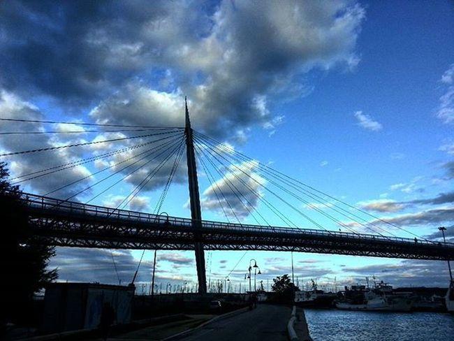 Pescara Igers_pescara Igers_montesilvano Igers_abruzzo Ponte_sul_mare Italy Italyiloveyou Sea Bridge_on_sea IGERS_ITALIA Italian Italia Clouds