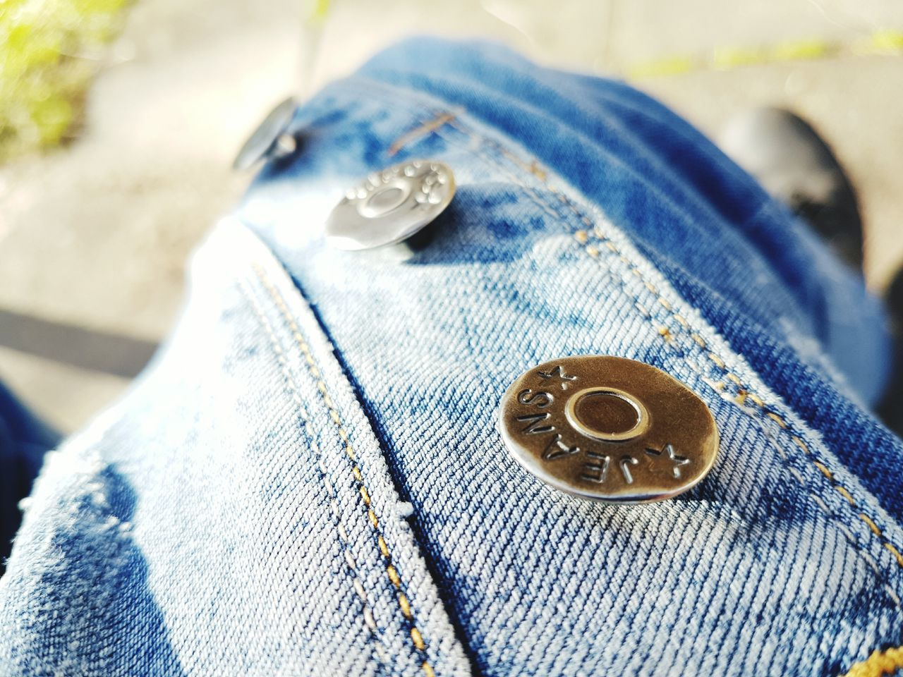 jeans, textile, close-up, fabric, no people, textile industry, fashion, sewing, button, day, outdoors