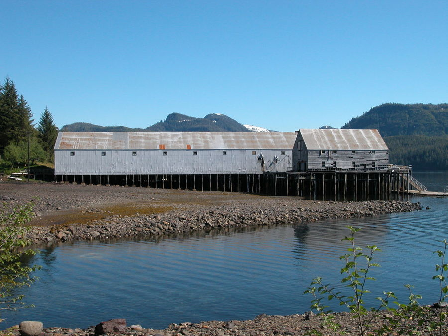 Alaska Architecture Beauty In Nature Built Structure Cannery Clear Sky Day Industry Nature No People Outdoors Sky Water