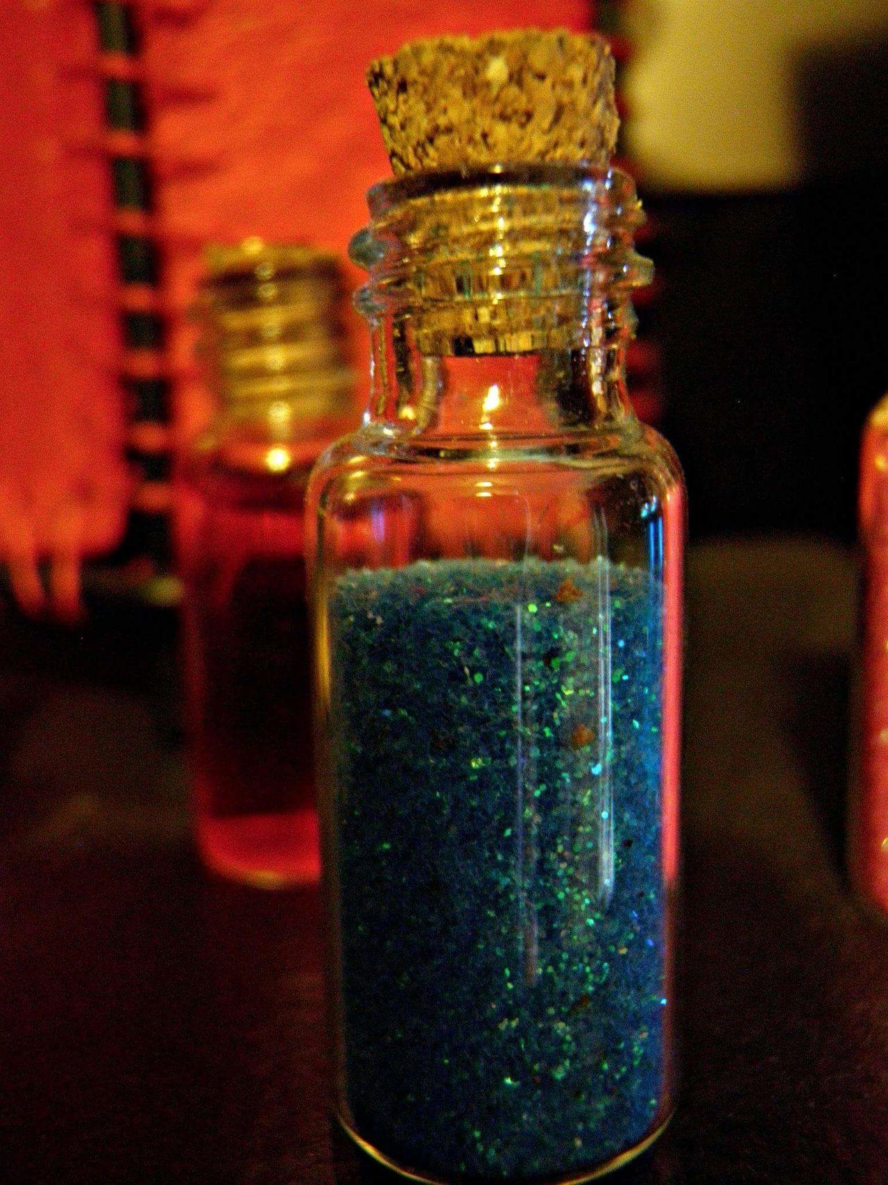 Bottle No People Indoors  Sparkles Mini Bottles Tiny Cork Close-up Blue