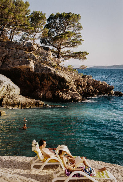35mm Film Analogue Photography Croatia Travel Beauty In Nature Horizon Over Water Leisure Activity Outdoors Real People Rock - Object Rock Formation Scenics Sea Seaside Sky Summer Travel Destinations Water