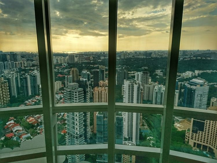 Almost sunset Window Skyscraper Cityscape City Architecture Sky View From Above View From The Top Birds Eye View Highrise HRD Effects Snapseed Snapseed Edit XPERIA Xperia X Landscape Outdoor Bridge - Man Made Structure Exterior Architecture No People Cloud - Sky Architecture Built Structure