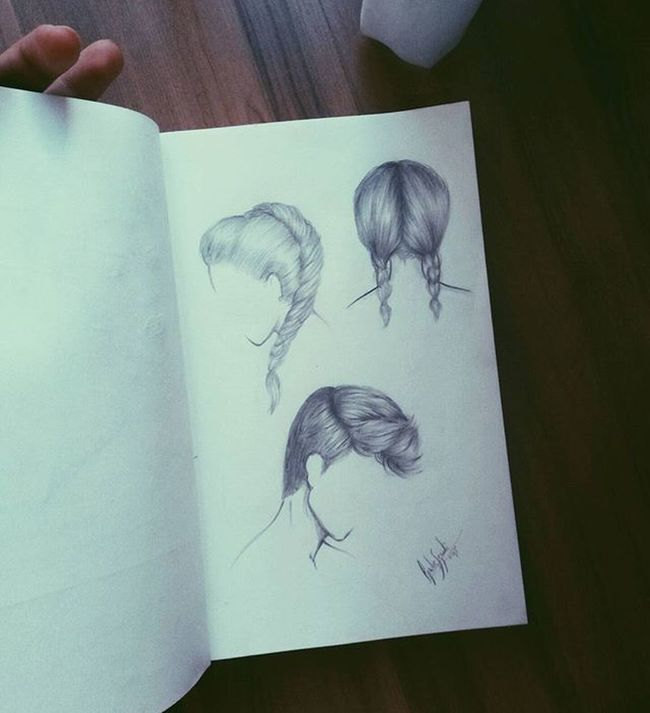hair studyyyy Drawing Draw Sketch Doodle Sketchbook Grunge Hair Hairdrawing Artist Illustration Hairstyle Malehair Rascunho Cabelo Art
