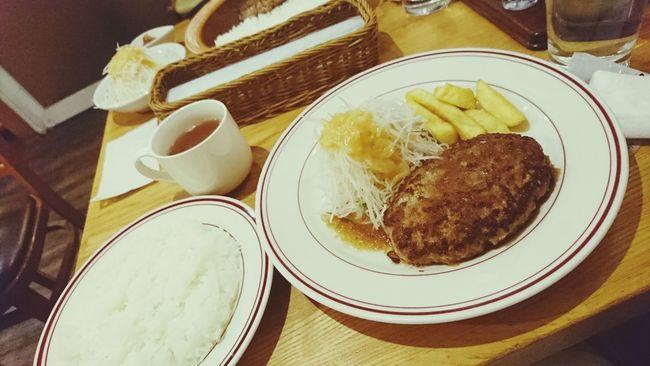 夜ごはん Dinner ハンバーグ Hamburger Steak