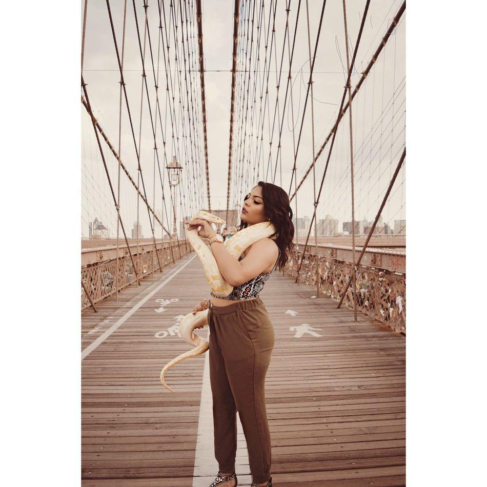 Beautiful stock photos of snakes,  20-24 Years,  Beautiful Woman,  Beauty,  Brooklyn Bridge