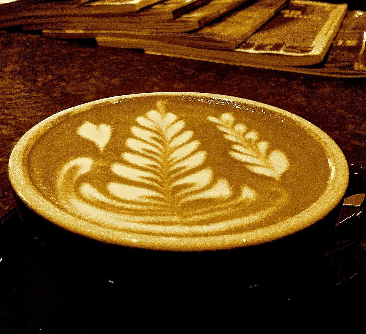 Cafe Culture Cappuccino Close-up Coffee - Drink Coffee Culture Coffee Cup Drink Food Food And Drink Froth Art Frothy Drink Heart Heart Shape Hidden Love Indoors  Latte Love No People Quiet Moments Silent Moment