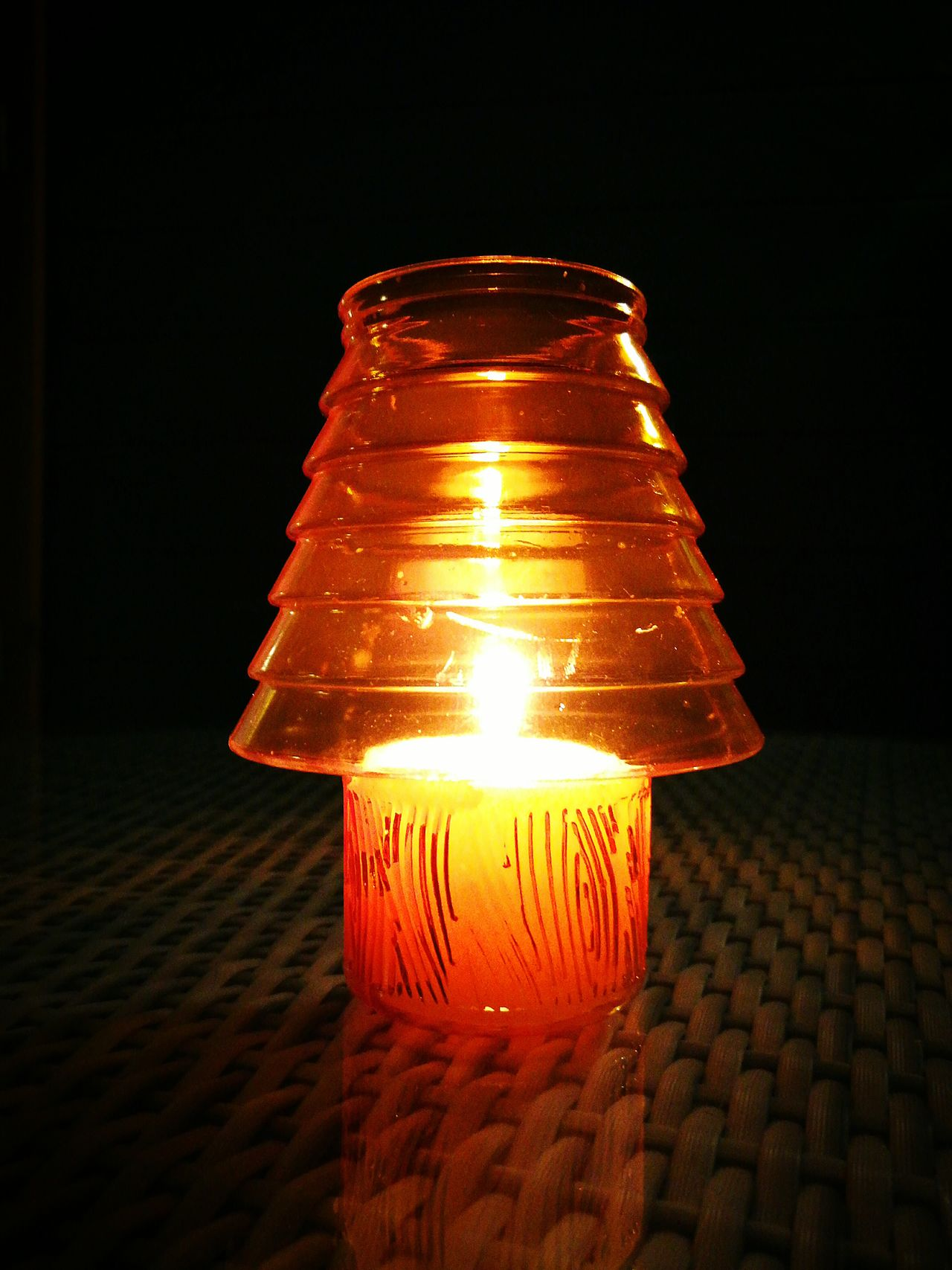 Glowing Illuminated Orange Color Single Object No People Close-up Night Black Background Candlelight Mosquito Repellant