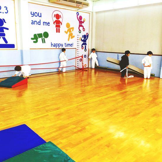 Judoclass Kids Playing Monkeys Indoors  Boys Teach Firstclass