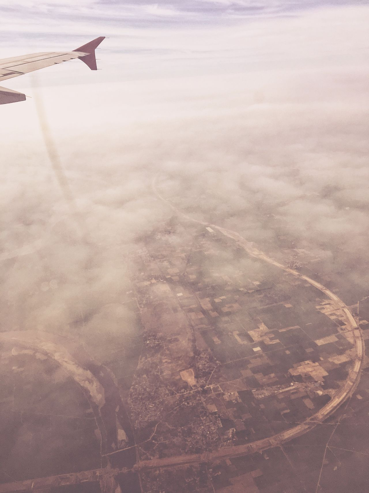 IPhoneography Aerial View Airplane Nature Beauty In Nature Landscape Flying Journey Transportation Tranquility Scenics No People Airplane Wing Outdoors Day Aircraft Wing Air Vehicle Sky IPhone