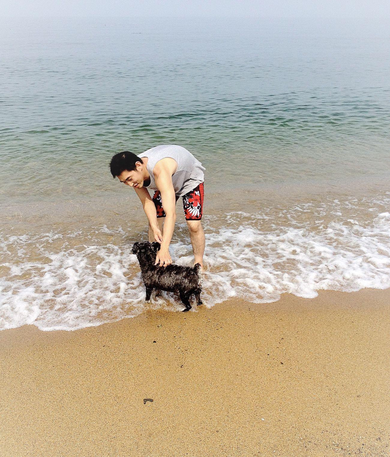 Awaji Island Awajishima Hyogo Dog Ocean Family People Together