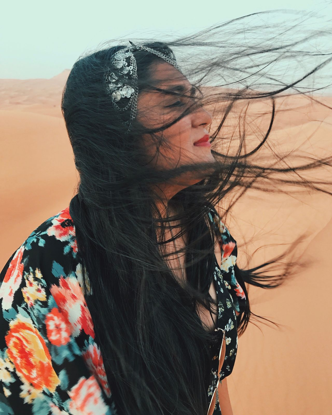 Blown away... One Person Leisure Activity Long Hair Real People Sand Young Women Young Adult Lifestyles Beautiful Woman Outdoors Day Beach Portrait Nature Beauty Sand Dune Sky Close-up Adult Adults Only