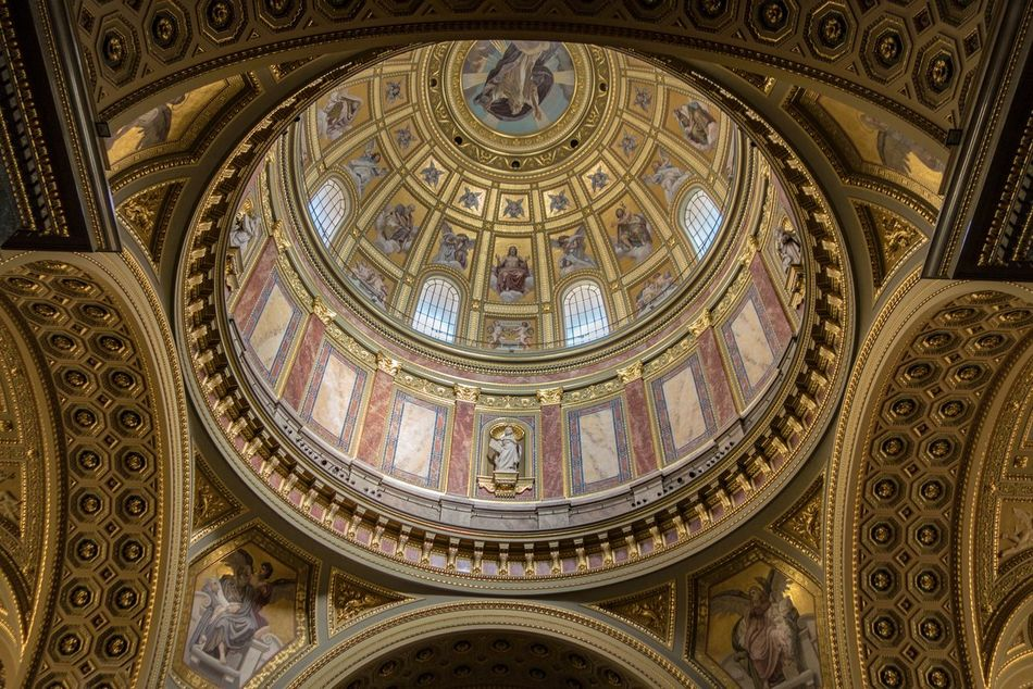Architecture Art And Craft Day Dome Fresco Indoors  Low Angle View No People Place Of Worship Religion Travel Destinations