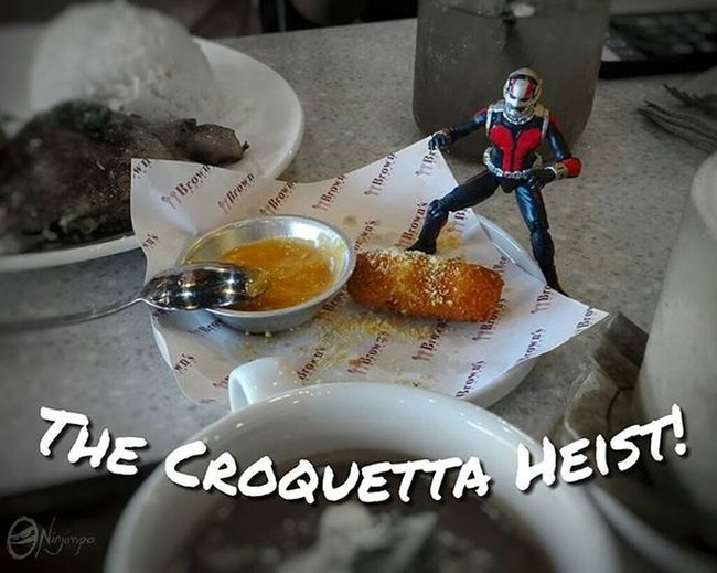Scott Lang's Antventures : Unable to resist the thrill of larceny, Scott decides to steal the last croquetta. Though to be honest, if he really wanted it that badly, he could have just asked. Afaa AfaaNinjimpo Antman Scottlang Marvel Marvellegends Hankpym Pymparticles Croquetta Toyswithfood Toyspot Toyspotcollector Toptoyphotos Justanothertoygroup Toycrewbuddies Toyplanet Toydiscovery Epictoyart Toyphotography
