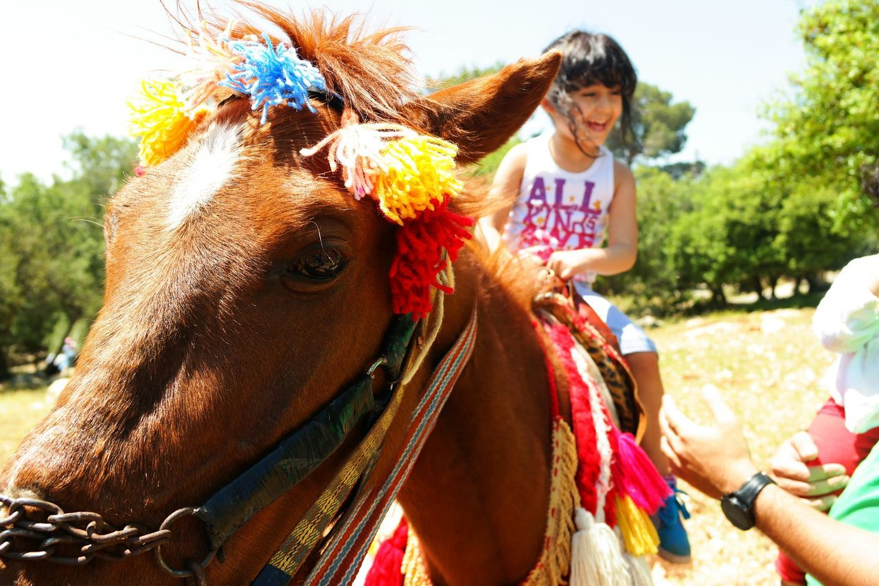 Outdoors Girl Nofilter Kid Child Horseriding Horse Happy Brown Horse