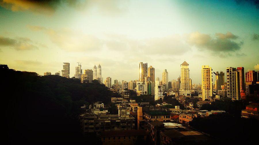 Pure sunset li'll filtirised mumbai