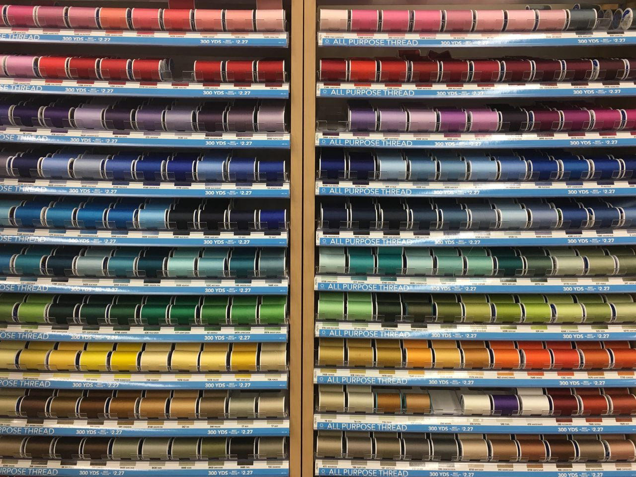 Beautifully Organized Storephotography Store Store Display Thread Sewing Art Is Everywhere