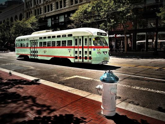 Trolley in San Francisco by T. Malachi Dunworth