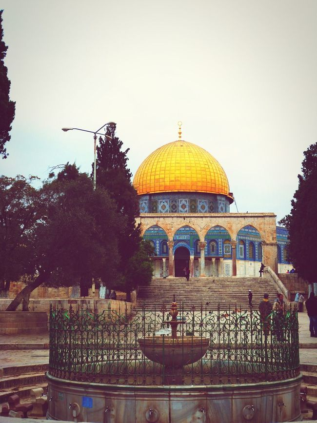 Architecture Summer Colors Unbelievable Dôme Du Rocher Jerusalem Traveling Dome Of The Rock Temple Mount