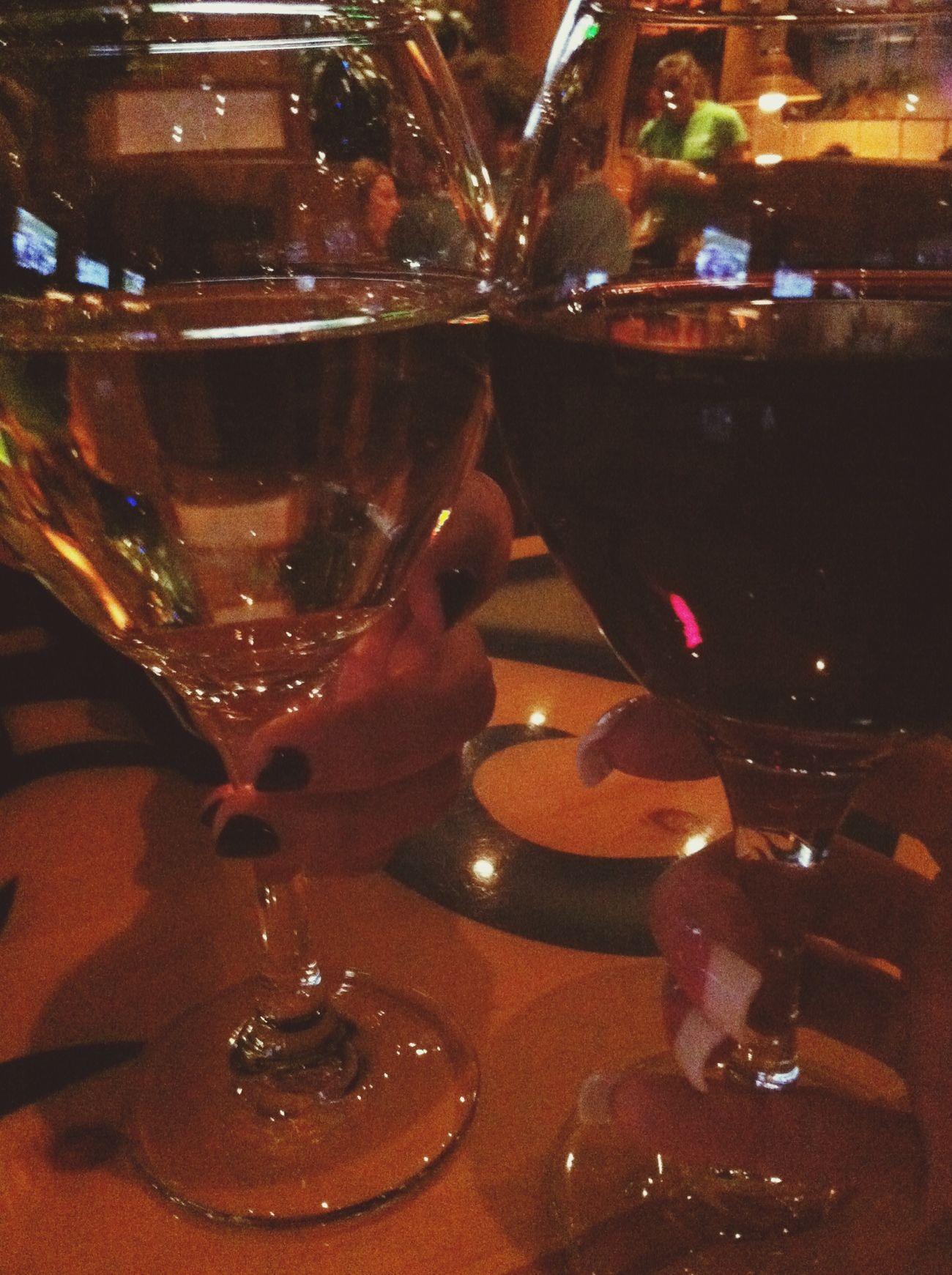 Girl Talk Drinks Wine Enjoying Life