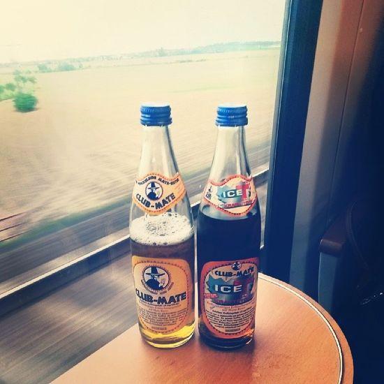 Best travel companions Train Leipzig Dresden Clubmate original iceT energy citytrip