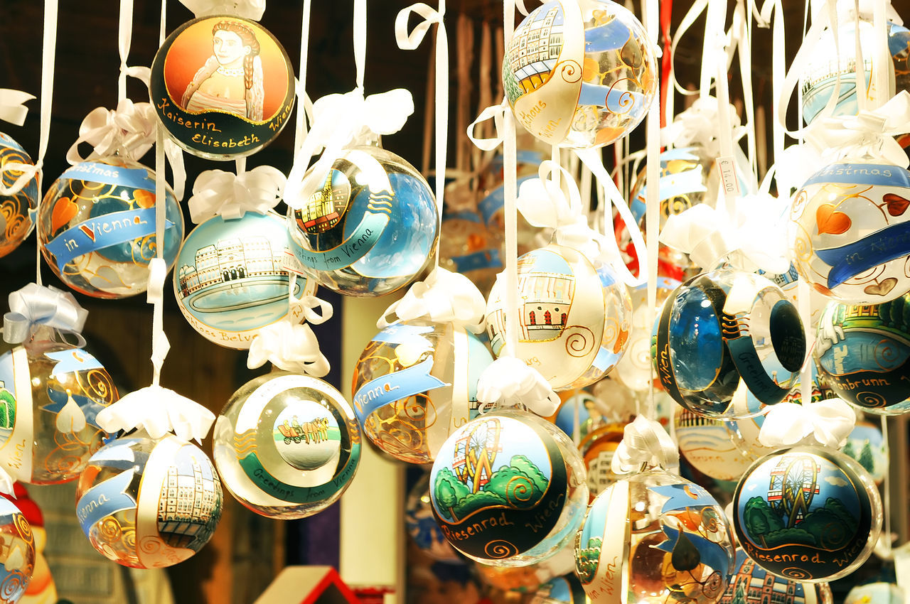 Choice Christmas Globe Close-up Day For Sale Hanging Holiday Indoors  Large Group Of Objects Multi Colored No People Retail  Variation