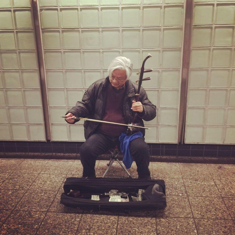 NYC Photography Subway Portraits NYC Subway Chinese Music Instruments Musician