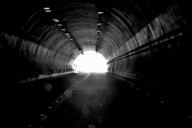 Science Fiction Vanishing Point No People Road Tunnel View Bnw_friday_eyeemchallenge Tunnel Vision Blurred Motion Light At The End Of The Tunnel Tunnels
