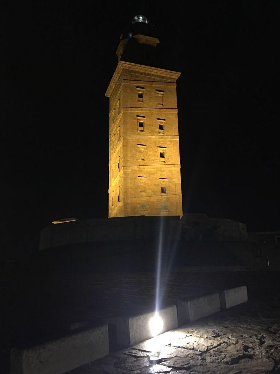 Night Illuminated Built Structure Architecture Building Exterior No People Outdoors TorreDeHercules Lacoruña Acoruña A Coruña City