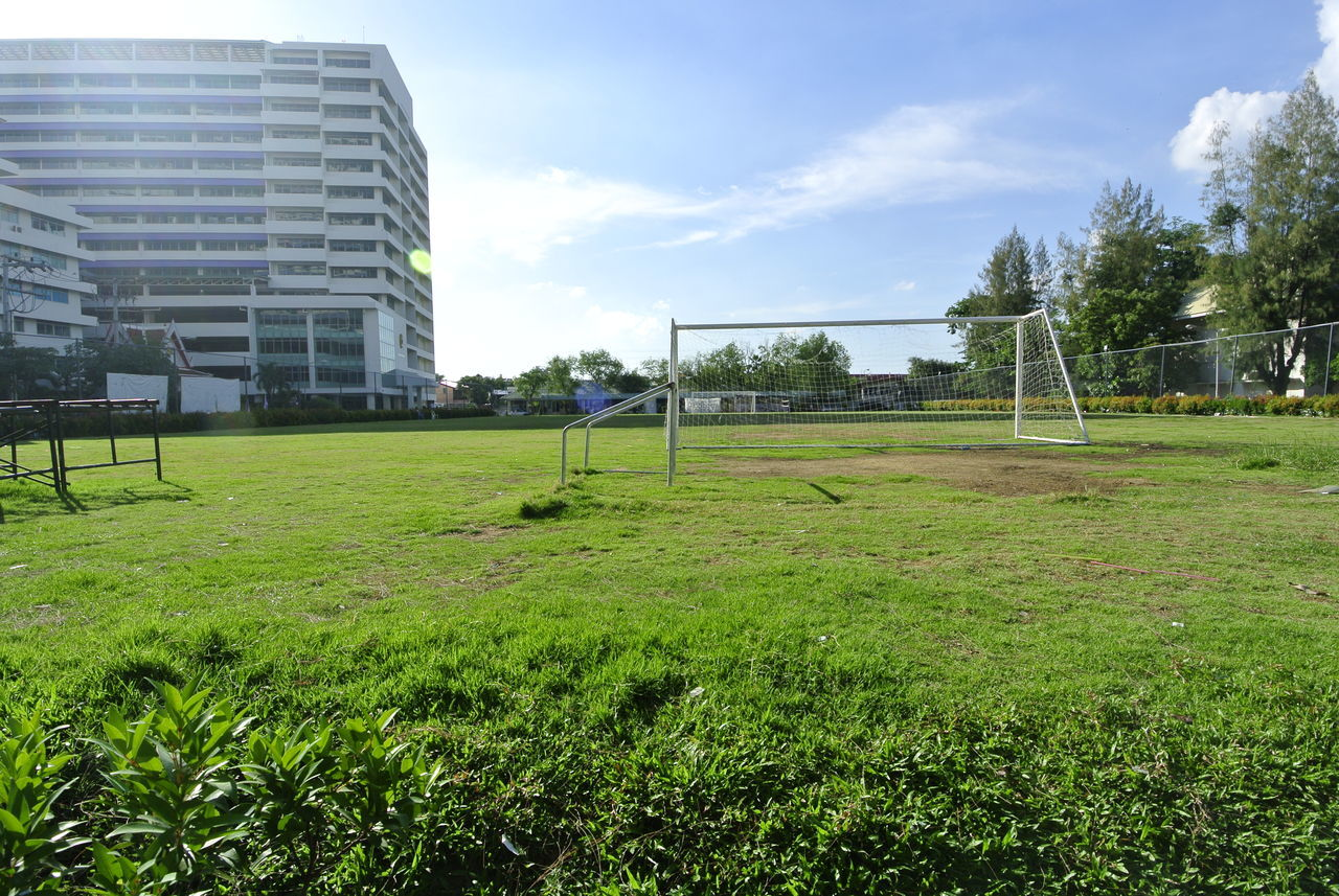 View Of Soccer Field During Sunny Day