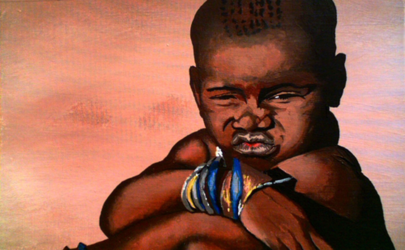 """""""African Himba Girl"""" by Jack III Acrylic Painting Painting Art Color"""