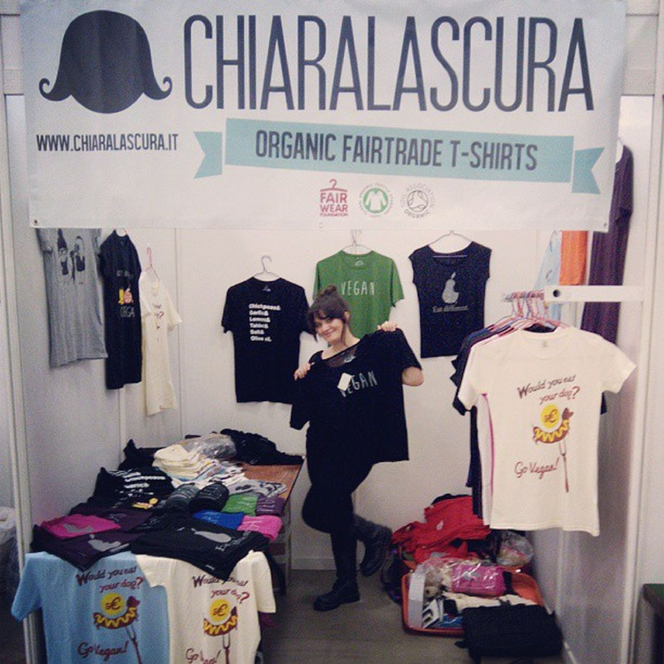 Chiaralascura at #vegfestuk #London. Stall G16. #vegan #vegantshirts #veganfashion London Vegan Vegfest Vegantshirts Veganfashion Vegfestuk Vegfestlondon