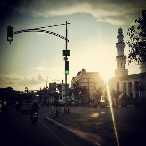 Simpang taman ratu safiatuddin Lamprit BandaAceh Visitaceh Sunset