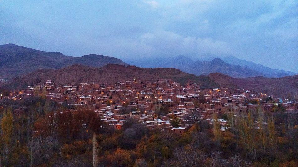Abiyaneh village Dusk Roadtrip Landscape Iran