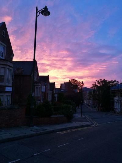 Nottingham Sunset Sky Empty Road Cloudscape