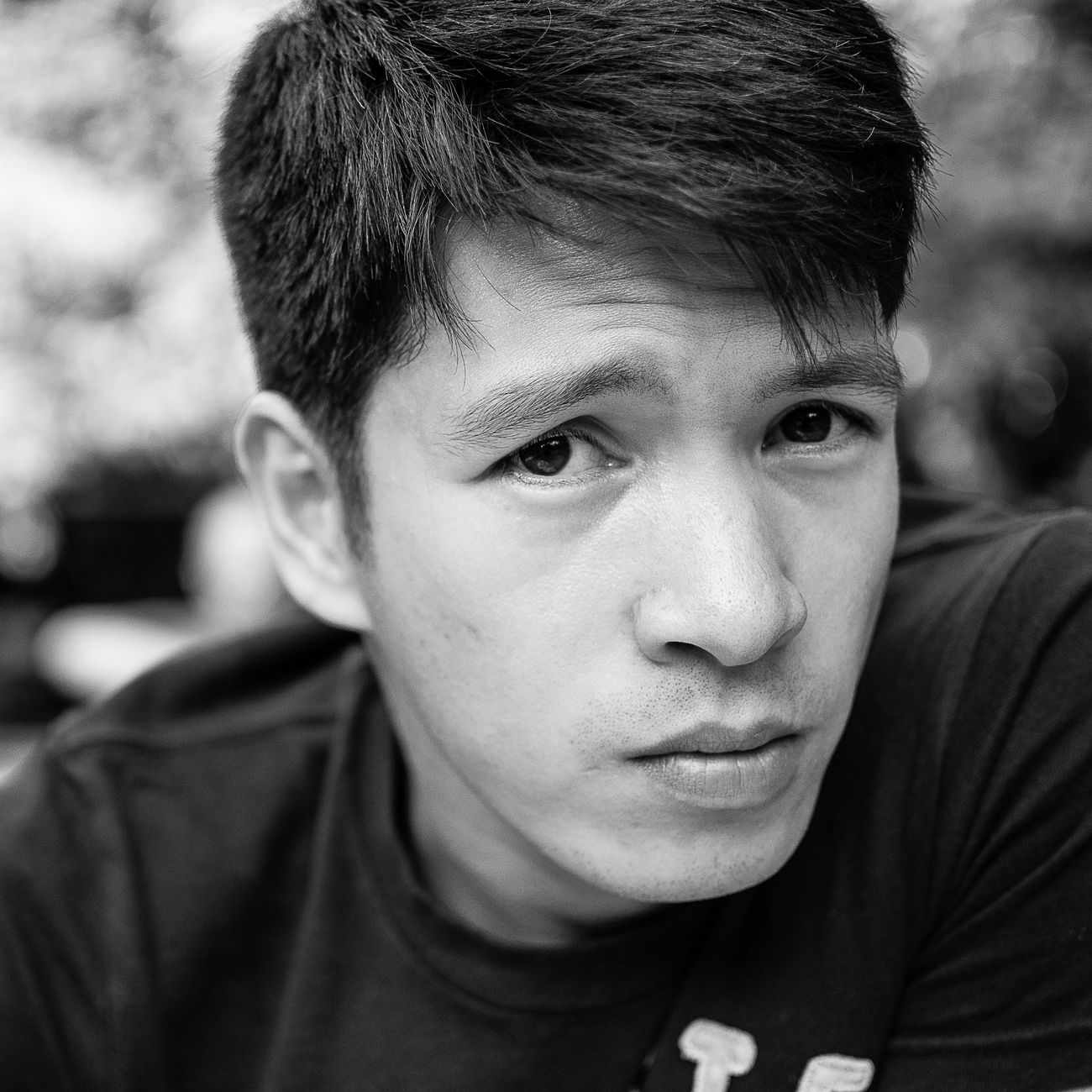 Donnie Blackandwhite Boys Childhood Close-up Day Focus On Foreground Headshot Human Eye Looking At Camera Nikonphotography One Person Outdoors People Pinoy Portrait Real People Young Adult