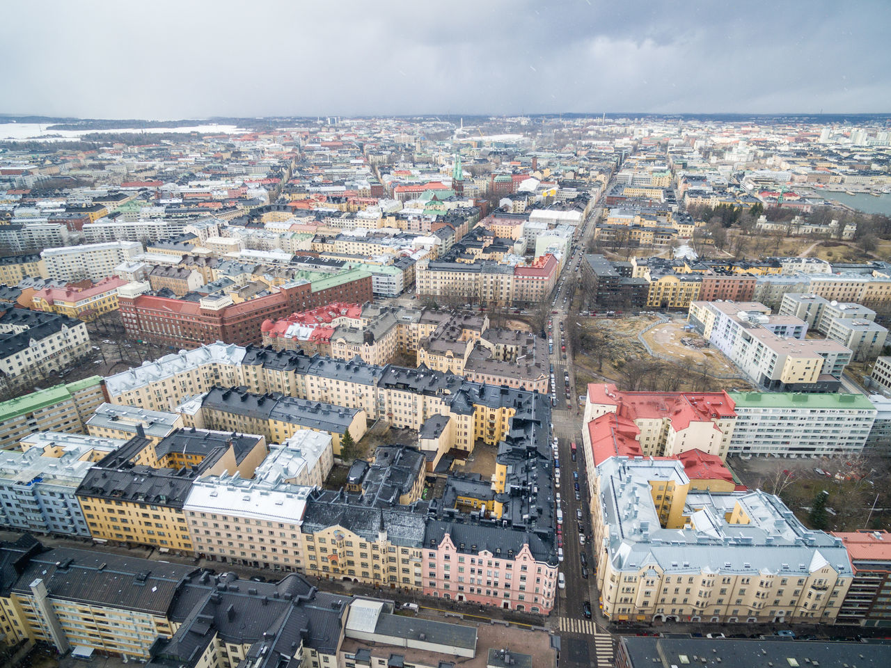 Drone shots from Helsinki on 24th of March 2017. Aerial View Architecture Building Exterior Business Finance And Industry City City City Life Cityscape Dji Drone  Flying High Helsinki House Lights Living Outdoors Residential Building Sky Spring Top Perspective Top View Tourism Travel Travel Destinations Winter Flying High