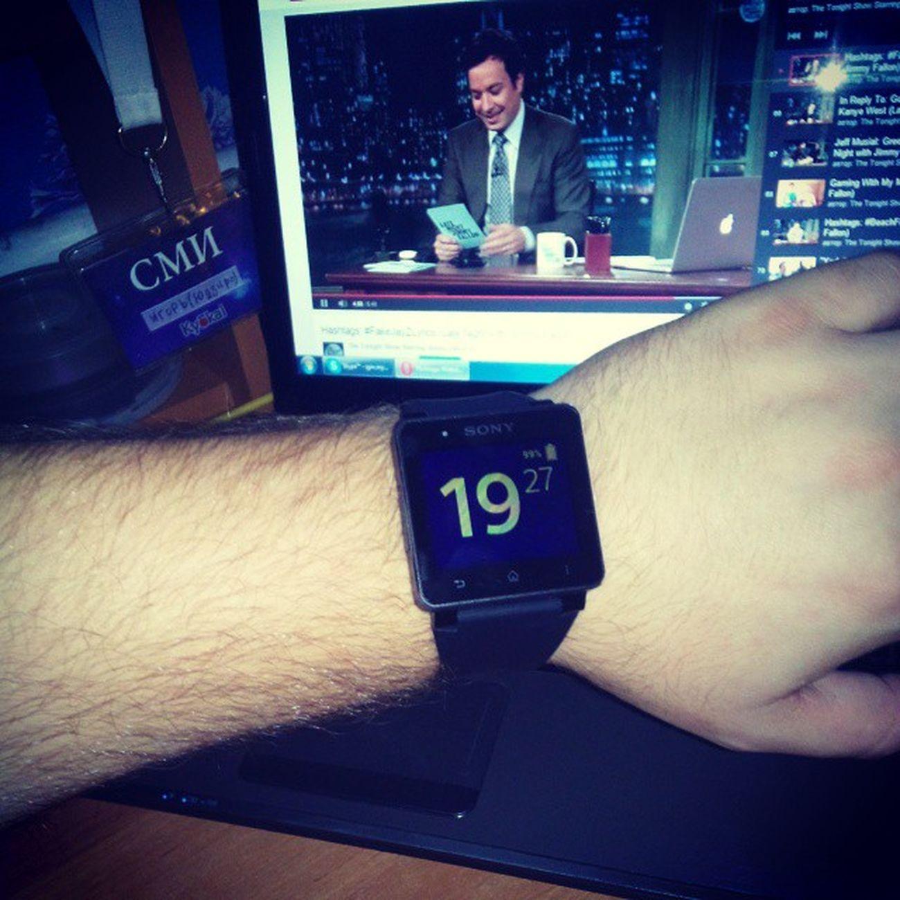 My new friend... Yes it is Sony SmartWatch 2... Sony Smartwatch2