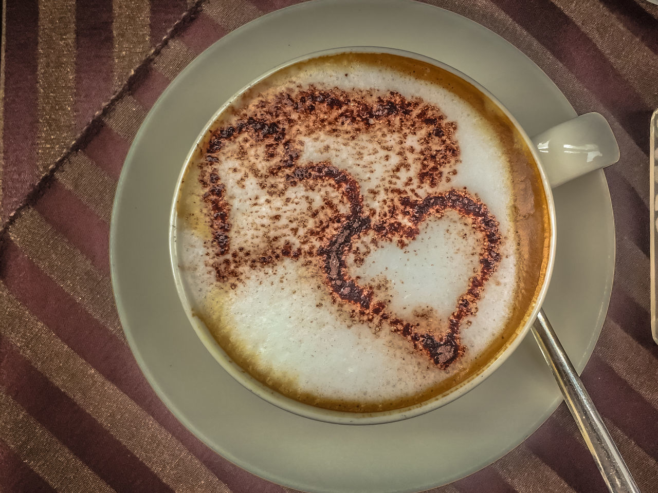 Cappuccino Close-up Coffee - Drink Coffee Cup Day Drink Food And Drink Freshness Froth Froth Art Frothy Drink Heart Shape Indoors  No People Refreshment
