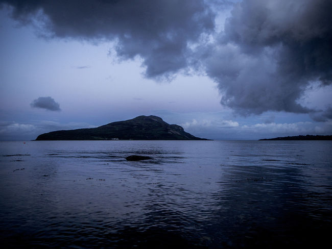 Arran  Beauty In Nature Brooding Clouds Dramatic Sky Islands Isle Of Arran  Landscape Late Mountain Scenics Scotland Sea Tranquil Scene Water