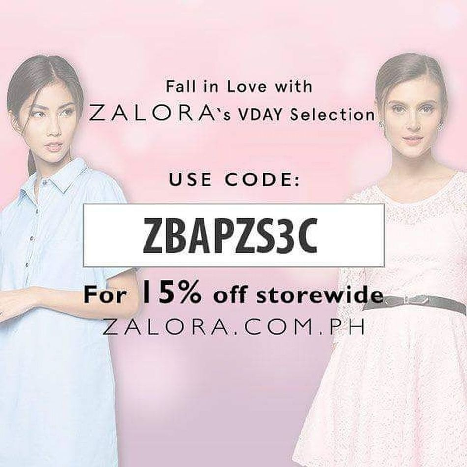 """Shop for valentine""""s for your special someone just use the code ZBAPZS3C to avail 15%off discount storewide, exclusive for Philippines only*** share this code to your family and friend. shop it here >>> http://www.zalora.com.ph Zalora ZaloraPH Zalorabasics @zaloraph FreshFromZalora Eyeem Philippines Philippines Online Shopping  Greatdeal Discount Valentine Gift Gifts ❤ Shop Girlfriend Boyfriend Love Ones Share"""